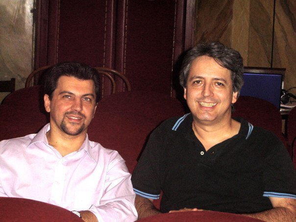 With composer Efraìn Amaya