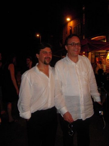 With composer Carlo Pedini