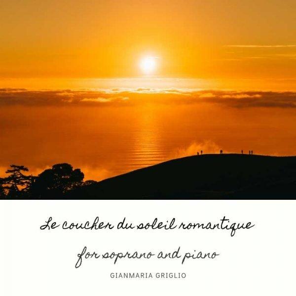 Le coucher du soleil romantique