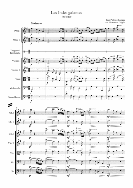 Rameau - Les Indes galantes suite - arr. Griglio - sample 1