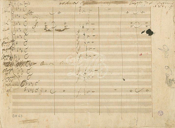 Beethoven: Coriolan autograph