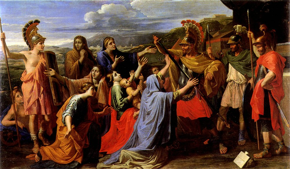 Coriolan painted by Nicolas Poussin