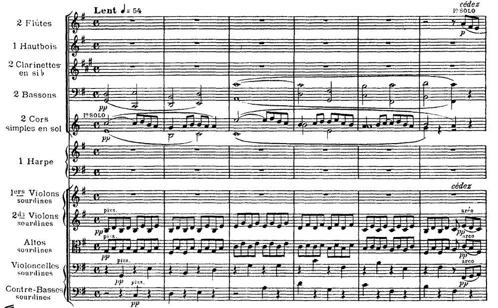 Ravel: Pavane pour une infante defunte, excerpt 1