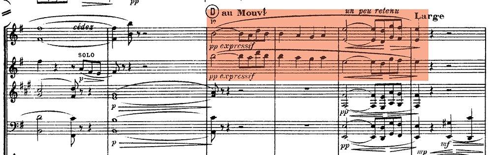 Ravel: Pavane pour une infante defunte, excerpt 5