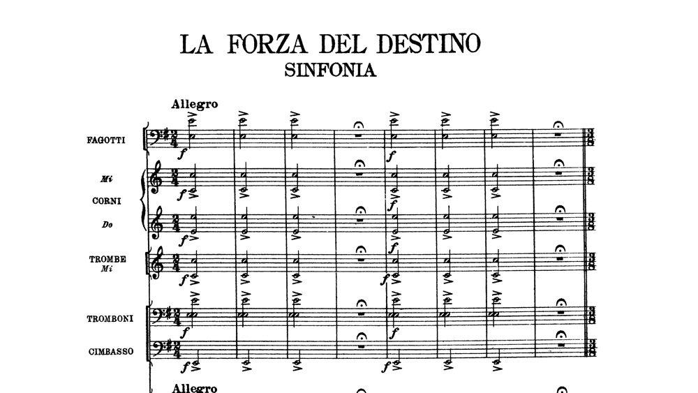 Verdi -La Forza del Destino Overture - ex 1