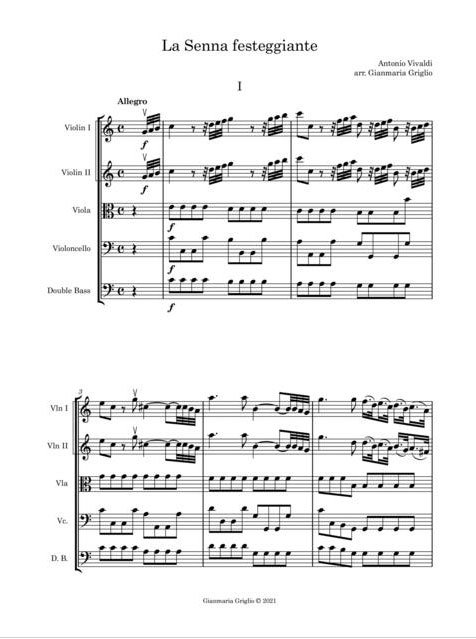 Vivaldi - La Senna festeggiante Sinfonia - ex 1