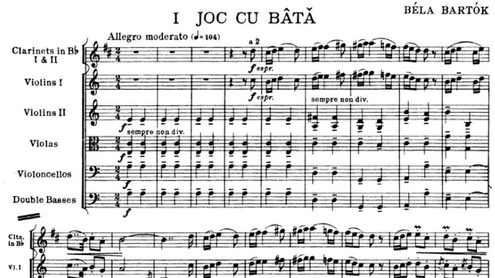 Bartok - Romanian Folk Dances ex.1