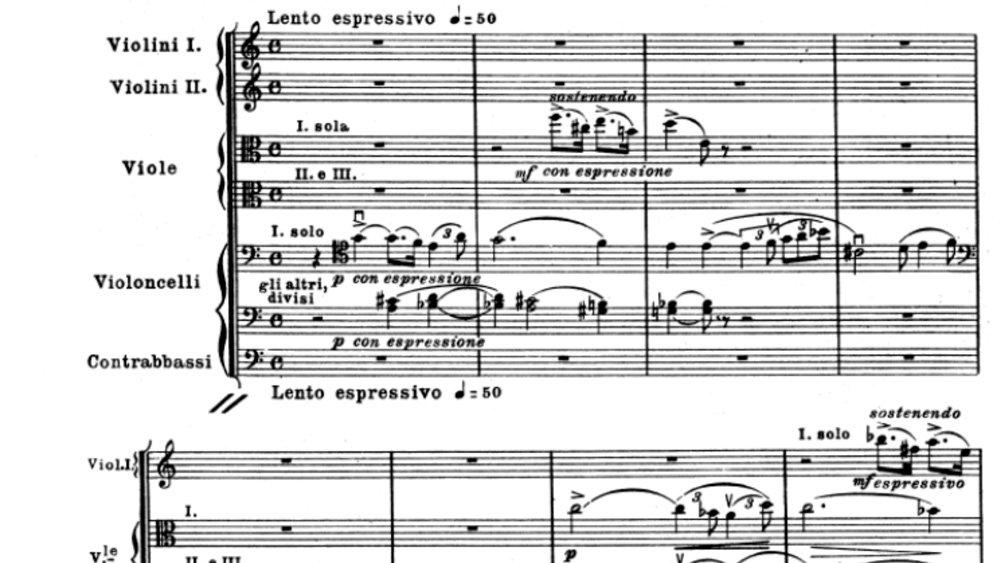 Puccini Intermezzo Manon Lescaut ex 1