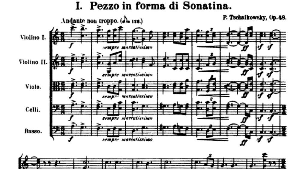 Tchaikovsky Serenade for strings analysis mov1 ex1