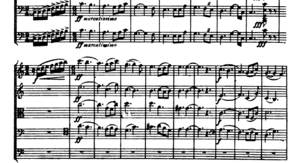 Tchaikovsky Serenade for strings analysis mov1 ex2