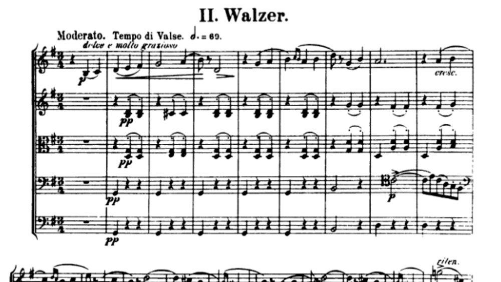 Tchaikovsky Serenade for strings analysis mov2 ex1