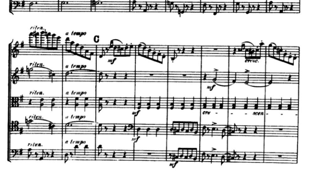 Tchaikovsky Serenade for strings analysis mov2 ex4